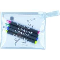 Set para colorear con láminas y ceras personalizada