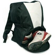 Mochila con bolsillo para zapatillas personalizada negra