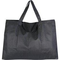 Bolsa plegable tamaño maxi personalizada negra
