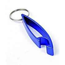 Llavero con abridor de metal personalizado azul