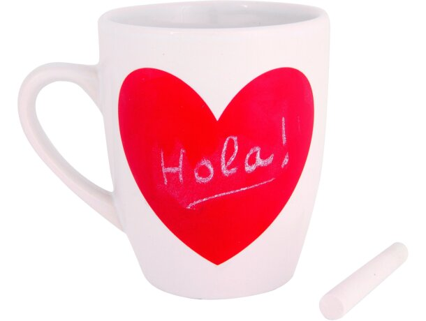 Taza decorada con corazón de pizarra