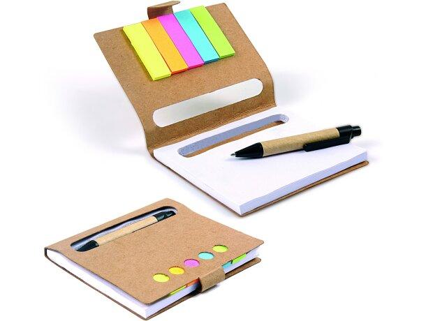 Bloc de notas con marcadores y mini bolígrafo