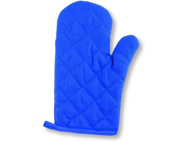 Manopla de algodón en colores personalizada azul