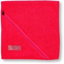 Toalla de microfibra con bolsillo de cremallera