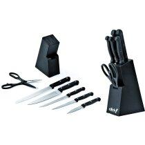 Set de cuchillos y tijeras en bloque