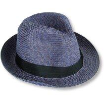 Sombrero de paja gran calidad personalizado azul
