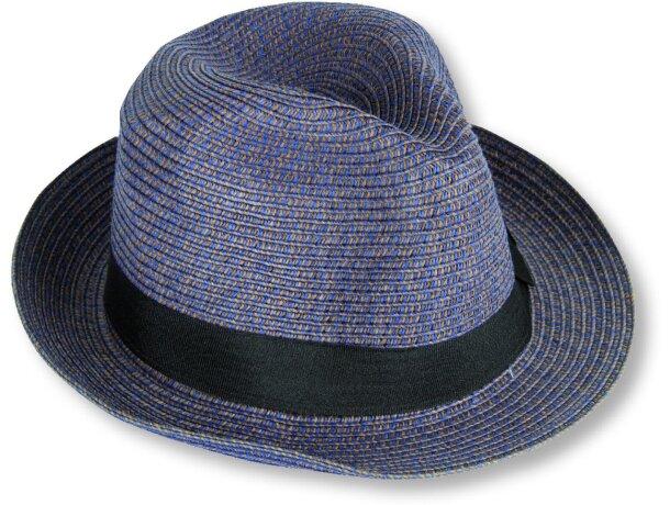 sombrero de paja gran calidad azul