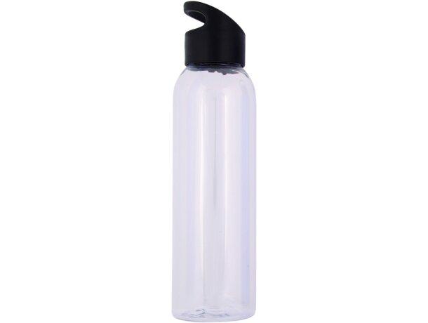 Botella de plástico transparente para deportistas personalizada blanca