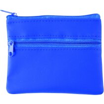 Monedero con dos bolsillos personalizado azul