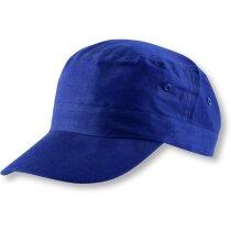 Gorra con nuevo diseño en algodón personalizada azul