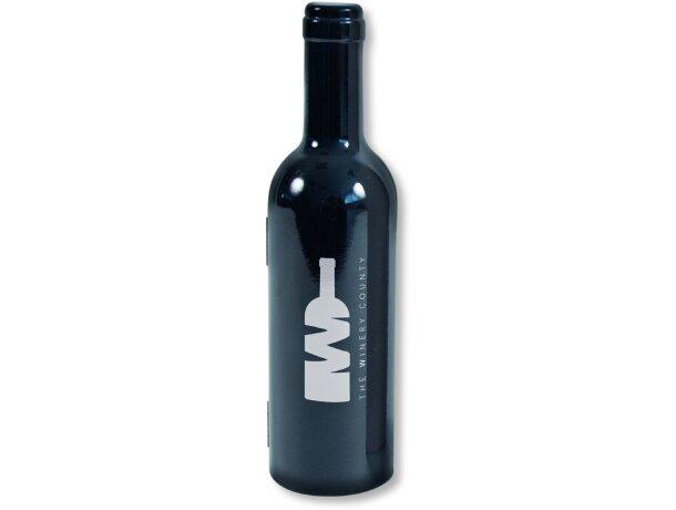 Set de vino de 3 piezas en estuche de plástico personalizado negro