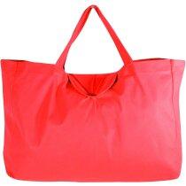 Bolsa plegable tamaño maxi personalizada roja