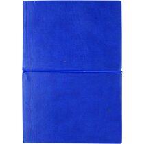 Agenda A5 con banda elástica azul personalizado