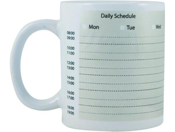Taza decorada con planning semanal barata