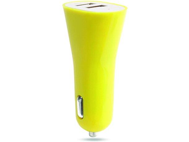Cargador doble para móvil y tablet personalizado amarillo