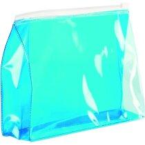 Neceser de PVC translúcido azul