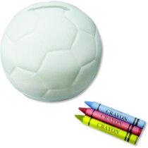 Hucha con forma de pelota para colorear personalizada