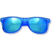 Gafas de sol de plástico con cristal espejo azul personalizado