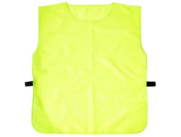 Peto para correr en alta visibilidad personalizado amarillo