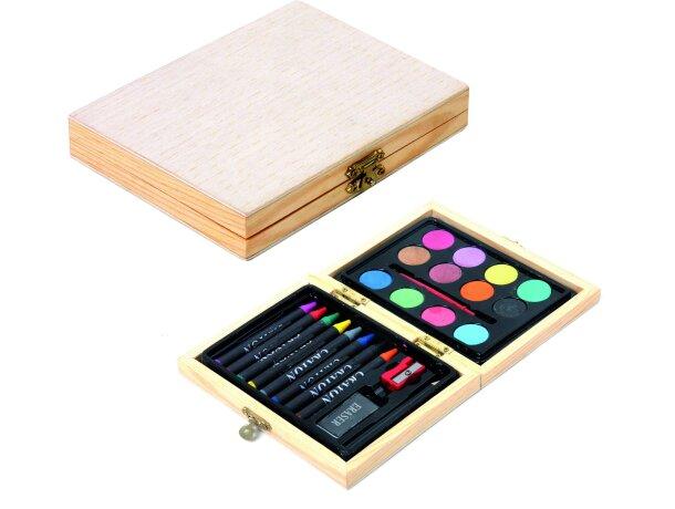 Estuche de acuarelas de madera personalizado personalizado