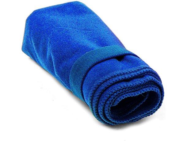 Toalla pequeña absorvente personalizada azul
