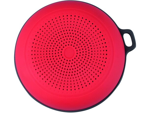 Altavoz inalámbrico de plástico con radio rojo