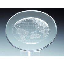 Trofeo de cristal mundo personalizado