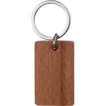 Llavero de madera rectangular