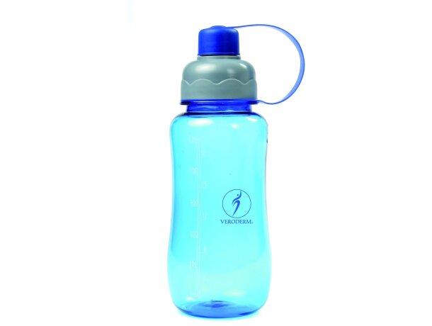 Botella de plástico transparente con medidor personalizada
