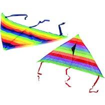 Cometa de rayas con cintas personalizada