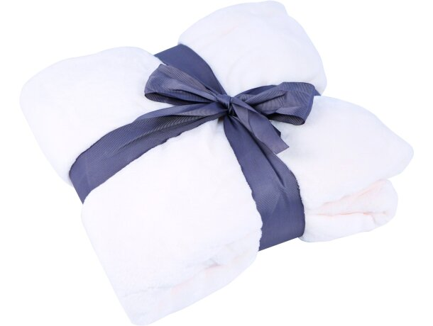 Manta polar de 240 gr 120x160 cm personalizada blanca