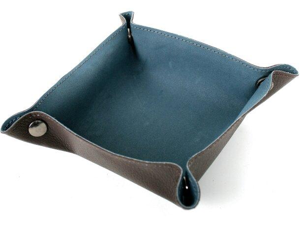 Vaciabolsillos de polipiel en colores azul