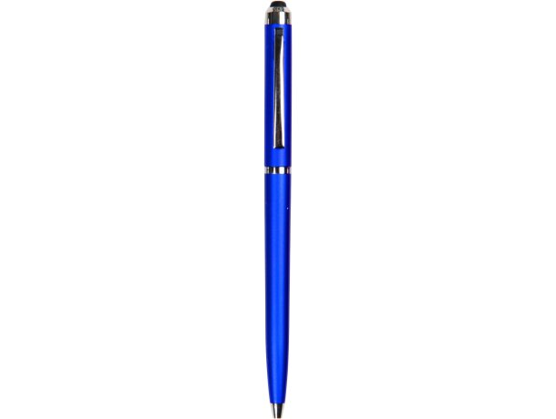 Bolígrafo puntero con acabado metalizado personalizado azul