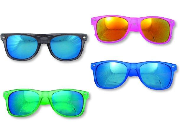Gafas de sol de plástico con cristal espejo economico