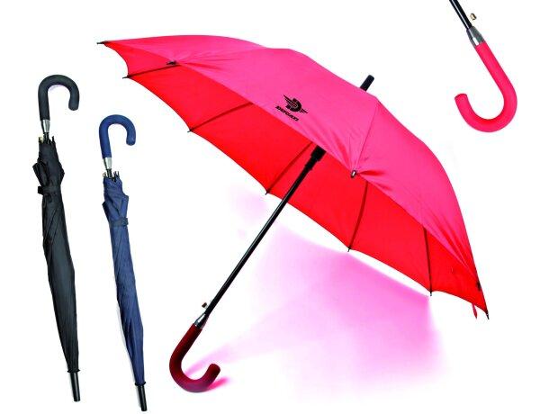 Paraguas con 8 paneles y mango curvo