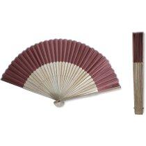 Abanico con varillas finas de bambú personalizado
