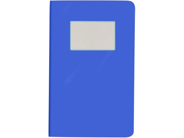 Bloc de notas con 32 hojas crema rayadas personalizada azul