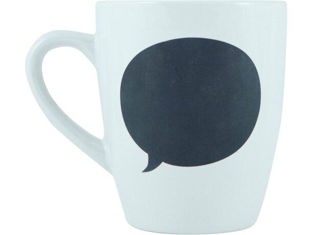 Taza de cerámica con viñeta de pizarra