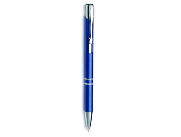 Bolígrafo en aluminio elegante azul