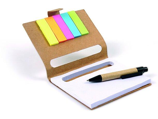 Bloc de notas con marcadores y mini bolígrafo barata
