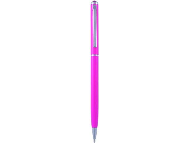 Bolígrafo de aluminio con cristal brillante