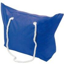 Bolsa de playa con asas largas de cuerda azul