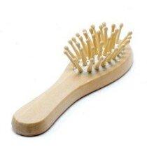Cepillo de puas fabricado en madera personalizado natural