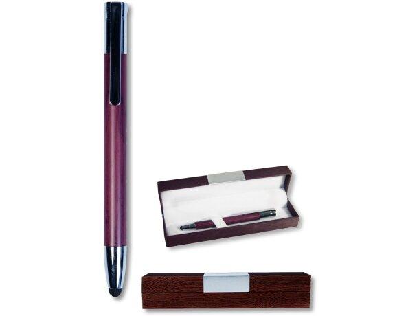 Bolígrafo en acabado madera mate con puntero