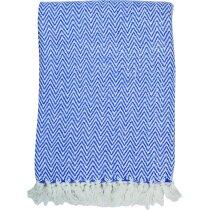 Manta de sofá en algodón 420 gr azul