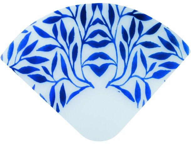 Abanico ligero de material glasspack personalizado azul