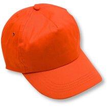 Gorra de algodón modelo básico cierre de velcro naranja