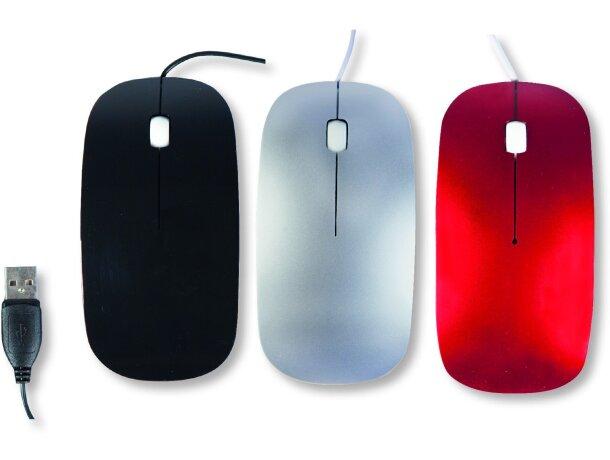 Ratón óptico de diseño elegante grabado