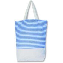 Bolsa De Playa Con Rayas De Colores Azul