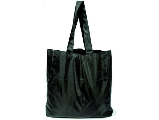 Bolsa plegable con cremallera negra